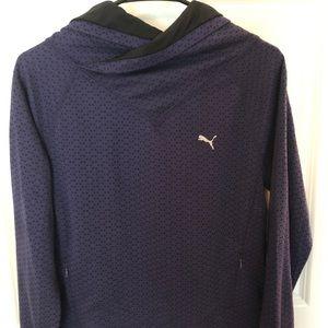 Puma Cowl Neck Purple Pullover Size Medium